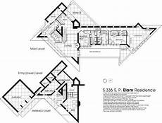 frank lloyd wright usonian house plans plan the elam house 1951 austin city minnesota