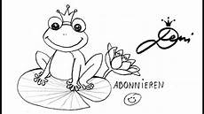 Ausmalbild Frosch Auf Seerosenblatt Frosch Schnell Zeichnen Lernen F 252 R Kinder How To Draw A
