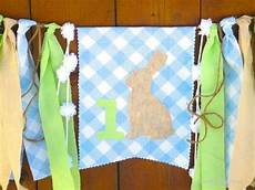 rabbit birthday banner highchair high by seacliffecottage eaaster bunny garland party