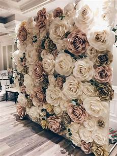 rose wall by new york paper flowers wedding backdrop
