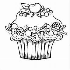 Malvorlagen Cake Cherry Berry Cupcake Coloring Pages Kostenlose