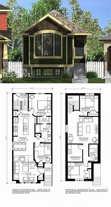 house plans with basement apartments craftsman leopold 976 house blueprints house plans