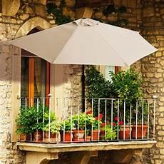 Balkon Sonnenschirm Halbrund Beige Kaufen Bei