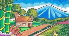 35 Terbaik Untuk Lukisan Contoh Gambar Pemandangan Alam