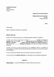 défaut de paiement exemple gratuit de lettre demande certificat non paiement