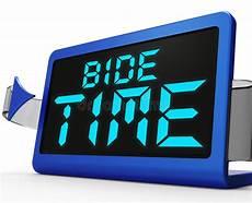 define bide bide time clock means wait for opportune moment stock