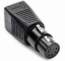 5 pin dmx sescom dmx 5xf cat5 5 pin xlr to rj45 dmx adapter