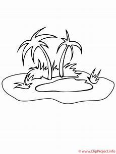 Bilder Zum Ausmalen Insel Insel Mit Palmen Malvorlage Gratis