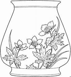 blumenmuster auf einer vase ausmalbild malvorlage blumen