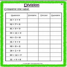 maths division worksheet 4 grade 3 estudynotes
