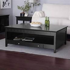 Black Storage Coffee Table
