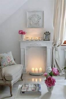 Deko Kamin Windlichter Kaminsims Wei 223 E Kerzen Shabby