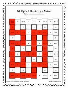 multiplication division math maze worksheets bundle by