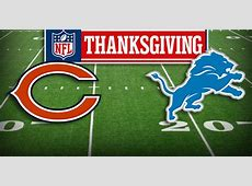 detroit lions chicago bears game