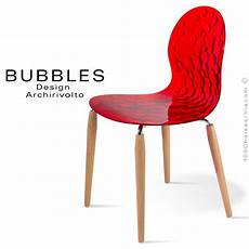 chaise design translucide bubbles assise plastique
