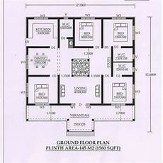 nalukettu house plans 1560 sq ft 4bhk traditional nalukettu style single floor