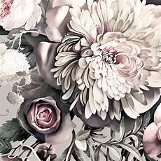 flower wallpaper grey floral ii gray floral wallpaper ellie cashman design