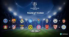 2016 2017 Chions League Of 16 Draw Sofascore News