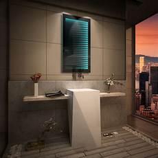 badspiegel mit led badspiegel mit led 3d beleuchtung tieffeneffekt