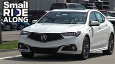 2018 acura tlx a spec review and test drive smail ride along youtube