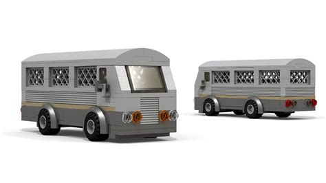 Lego Armored Prison Transport Bus Instructions
