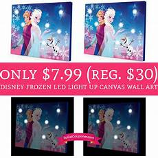 only 7 99 regular 30 disney frozen led light up canvas wall art deal hunting