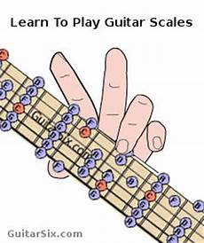how to learn guitar scale how to play and memorize major and minor guitar scales