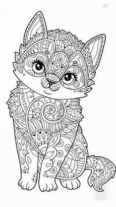 cute kitten coloring page artists toolboxes adult