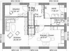 grundriss gerade treppe grundriss efh 2 dach 11 x 8 m seite 2