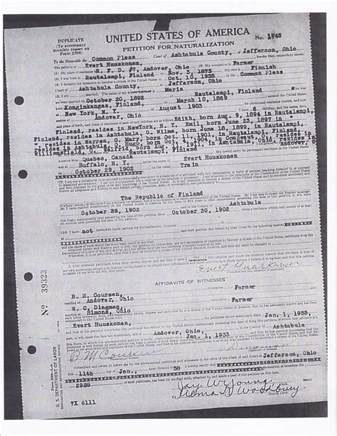 French Nationality Certificate