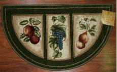 Grape Kitchen Floor Mats by 19x32 Slice Wedge Kitchen Rug Mat Green Washable Mats Rugs