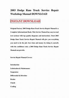 small engine repair manuals free download 1998 dodge dakota club on board diagnostic system 2003 dodge ram truck service repair workshop manual download