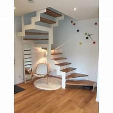 Escalier Quart Tournant Sur Mesure Escalier Deux Quart Tournant Limon Metal Cremaillere
