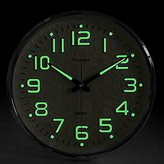 com ambient weather rc 1200bsn 12 quot atomic radio controlled wall clock black silver