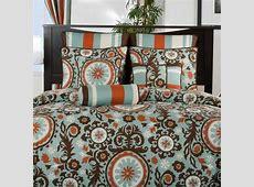 Chocolate, Orange & Teal Bedding   Decorating   Comforters