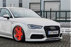 in tuning cup spoilerlippe aus abs f 252 r audi a3 8v limo