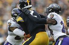 steelers make it official rudolph out of concussion rudolph exits after scary hit ravens edge steelers in ot