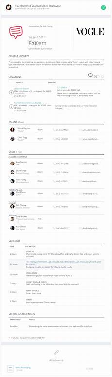 sle call sheet template studiobinder