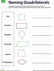 naming quadrilaterals worksheet education com