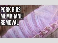 do baby back ribs have a membrane