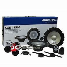 alpine sxe 1750s alpine sxe 1750s 6 5 quot 2 way car audio component speaker