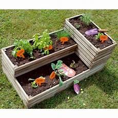 jardin carré potager carr 233 potager bois trait 233 l119 5 h53 cm k 252 b plantes et
