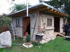 gartenhaus selbst gebaut fachwerkhaus selber gestalten backsteine und holz