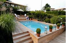 piscine semi terre bois piscines