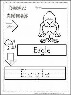animal themed worksheets 14062 11 desert animal themed printable preschool worksheets color read trace wor