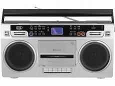 lettori cassette audio radio registratore stereo bluetooth trevi rr 504 bt silver
