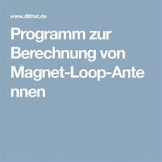 programm zur berechnung magnet loop antennen antenne