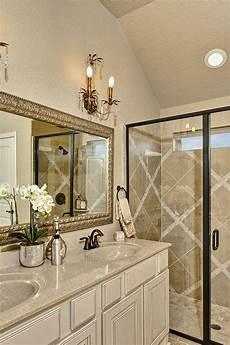 gold bathroom ideas gehan homes master bathroom granite brushed gold mirror tile design candelabra light