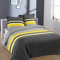 parure de lit coton parure de lit 2 personnes en coton geom 233 trique linge de