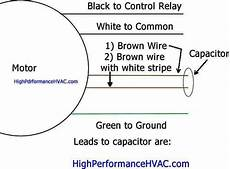 how to wire a run capacitor to a motor blower condenser hvac wiring